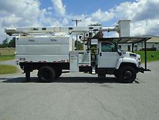 2006 GMC C7500 ALTEC LRV55 BOOM/BUCKET CHIPPER DUMP TRUCK FORESTRY ARBORIST
