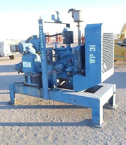 Thompson 6 inch trash water irrigation pump john deere for Diesel irrigation motors for sale