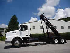 VOLVO VHD HEAVY DUTY SPEC ROLLOFF ROLL OFF HOOK LIFT TANDEM AXLE 75K WASTEQUIP