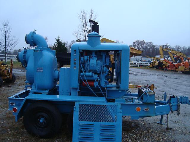 Gorman rupp 8 inch trash water irrigation pump detriot for Diesel irrigation motors for sale