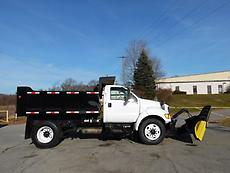 2000 FORD F-750 CONTRACTOR SNOW PLOW DUMP TRUCK SINGLE AXLE