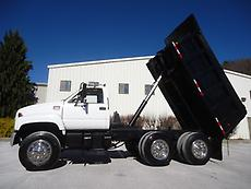 NICE GMC C8500 TANDEM AXLE DUMP TRUCK 12 FT STEEL BED PINTLE HITCH LOOK