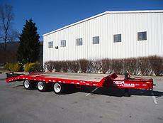 2002 3 AXLE 25 TON TAG ALONG PINTLE HITCH LOW BOY AIR BRAKE EQUIPMENT TRAILER