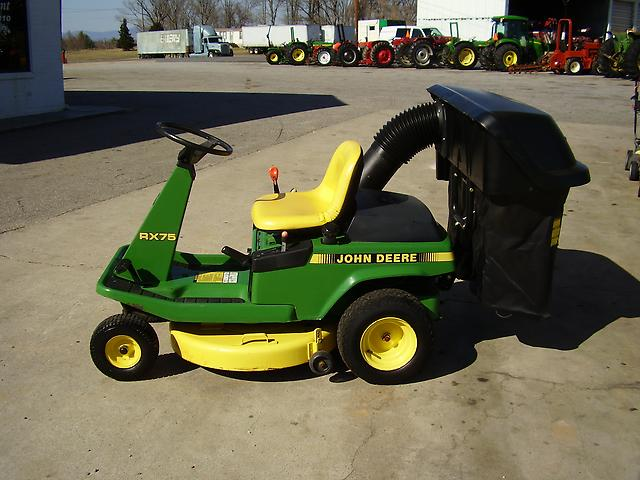 00875c5b6e0449ea81a34ff296a34352 very nice john deere rx75 riding mower with bagger on popscreen