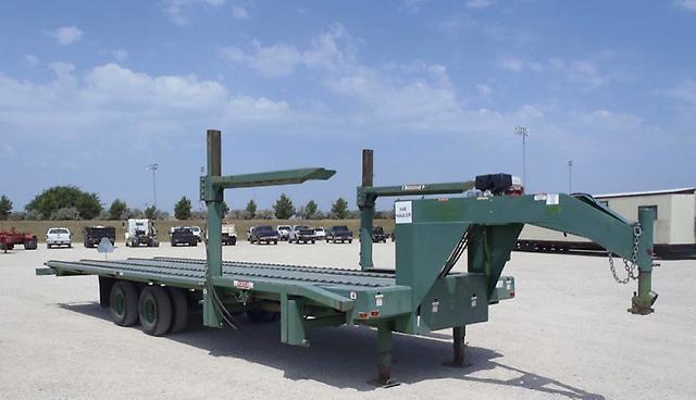 Hydraulic Loading Arms : Hay trailer gooseneck auto loading live bottom hydraulic