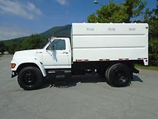 1997 FORD F SERIES CHIPPER DUMP TRUCK FORESTRY ARBORIST