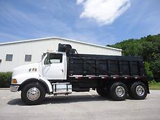 FORD STERLING TANDEM DUMP TRUCK CATERPILLAR WITH JAKE BRAKE 8LL 16 FT STEEL BED