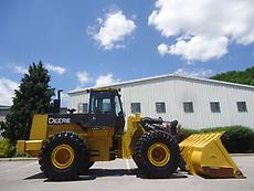 JOHN DEERE 744E RUBBER TIRE WHEEL LOADER FULL CAB