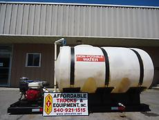 HONDA WT30X SELF CONTAINED 1035 GALLON SKID MOUNTED WATER SYSTEM TRUCK TANK