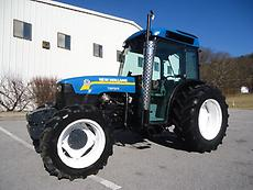 NEW HOLLAND TN95F TN95FA 4X4 FARM TRACTOR CAB  A/C 3 POINT HITCH REMOTES