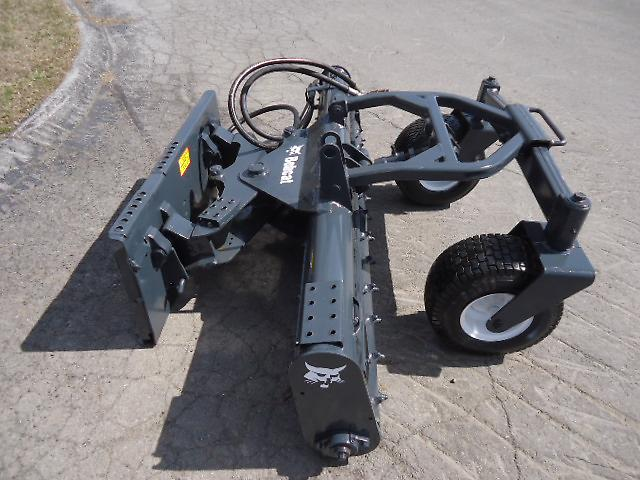 inch skid steer harley rake soil condition rock hound rake attachment
