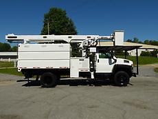 2006 GMC C7500 ALTEC LRV55 BOOM/BUCKET CHIPPER DUMP TRUCK FORESTRY ARBORIST