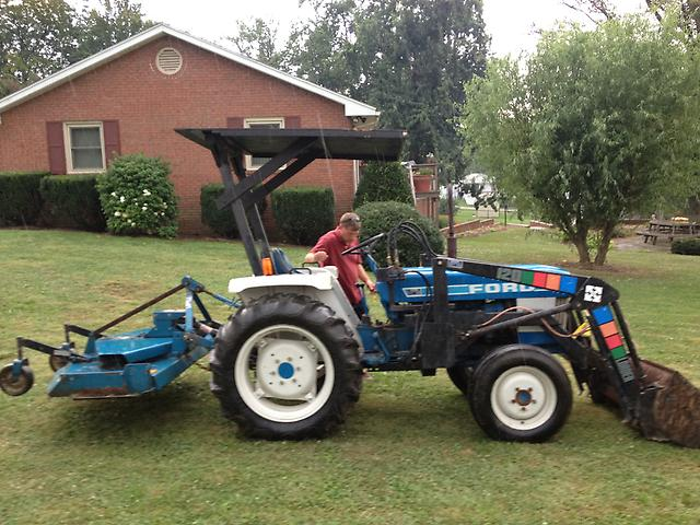 Ford New Holland 1710 Tractor 4wd Loader Rear Finish Mower Diesel Pto