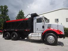 KENWORTH T450 TANDEM AXLE DUMP TRUCK 15 FT STEEL BED HEAVY DUTY PINTLE HITCH