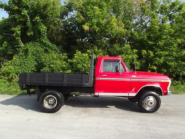 f350 1977 ford custom flatbed truck 4x4 gas engine