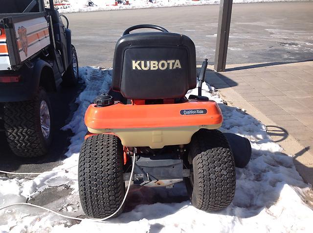 Kubota T1670 Parts : Kubota t garden tractor lawn mower hp gas engine ebay