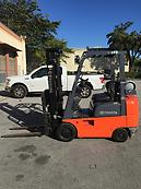 2006 Toyota 7 Series 3500lbs LP cushion 3 Stage Forklift ONLY 5500 HRS