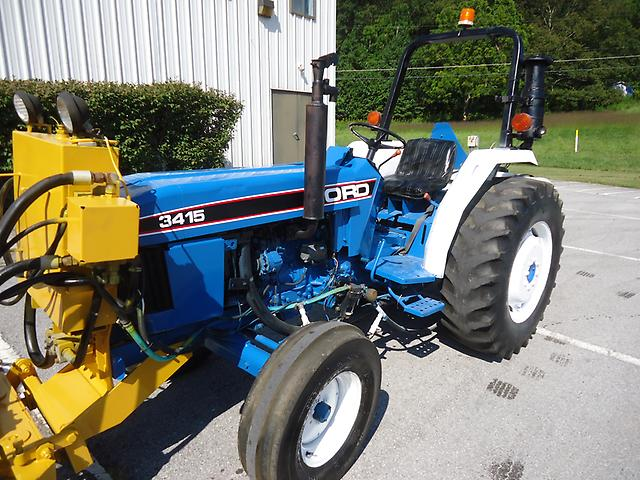 3415 Ford Tractor Parts : Ford diesel tractor with front sweeper broom and