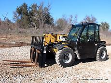 2012 CATERPILLAR TH255 FORKLIFT- TELEHANDLER - 27 PICS