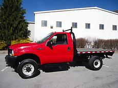 2002 FORD F350 XL 4X4 TRUCK WITH CADET STEEL FLATBED