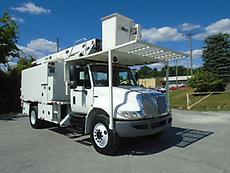 2009 INTERNATIONAL DURASTAR 4300 ALTEC BOOM/BUCKET CHIPPER DUMP TRUCK FORESTRY