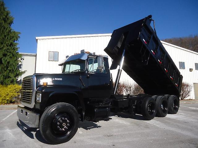 ebay motors ford l9000 triaxle dump truck steel bed nice truck look