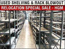 USED SHELVING AND RACKING SPECIAL