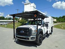 2012 FORD F550 4X4 FORESTRY BUCKET CHIPPER DUMP TRUCK