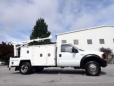 2005 FORD F550 DIESEL SERVICE TRUCK PTO HYDRAULIC MAINTAINER CRANE