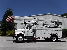 2002 INTERNATIONAL 4900LIFT -ALL LAN551E 55 FT BUCKET TRUCK SERVICE BODY BED