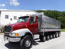 2006 STERLING LT9513 7 AXLE DUMP TRUCK 470 CAT AUTOMATIC TRANSMISSION ALFAB BED