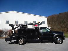 SERVICE TRUCK MAINTAINER BODY BED 3220 HYDRAULIC CRANE AIR COMPRESSOR OIL TANKS