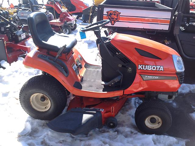 Kubota T1670 Garden Tractor Lawn Mower 15 Hp Gas Engine Ebay