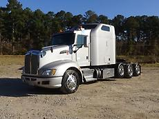 2012 Kenworth T660 Tri Axle Sleeper Truck W/APU